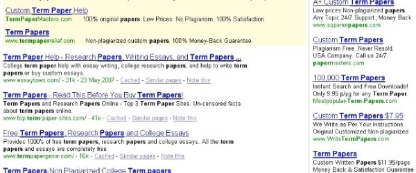 support non plagiarized term papers com